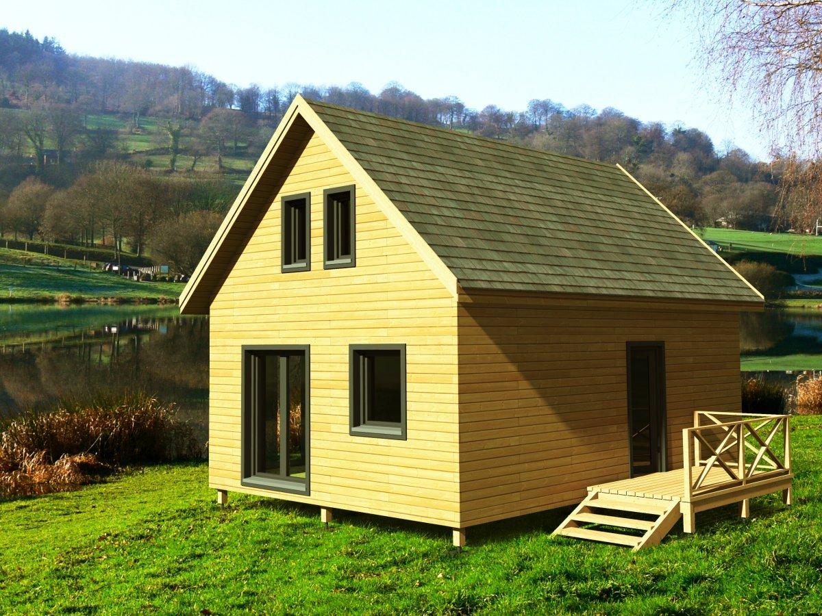 Maison de jardin avec ossature bois Bretagne 65 m  60390  TTC Livr Mont cl en main