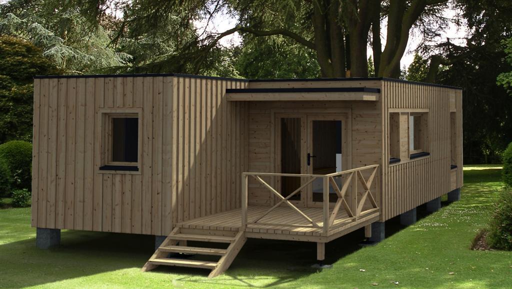 Maison de jardin avec ossature bois versailles m ttc livre monte cle en main - Chalet en bois habitable clef en main ...