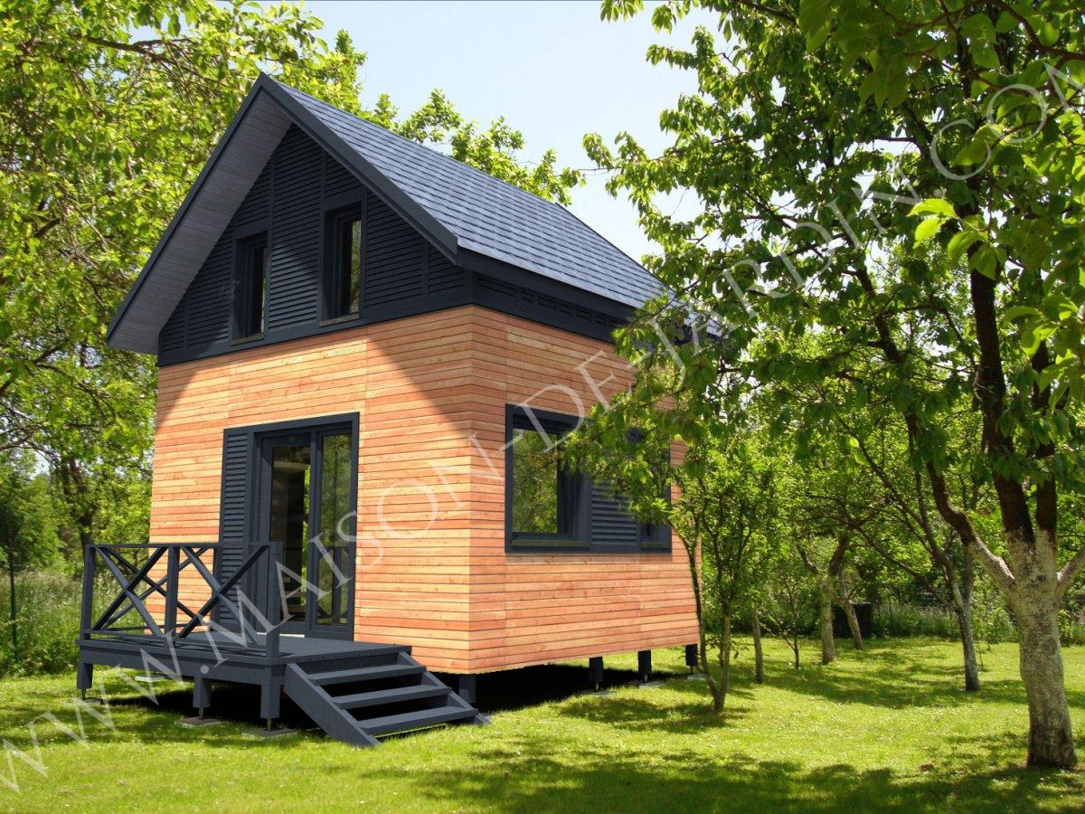 Studio de jardin avec ossature bois Pyrnes 37 m  34900  TTC Livr Mont cl en main