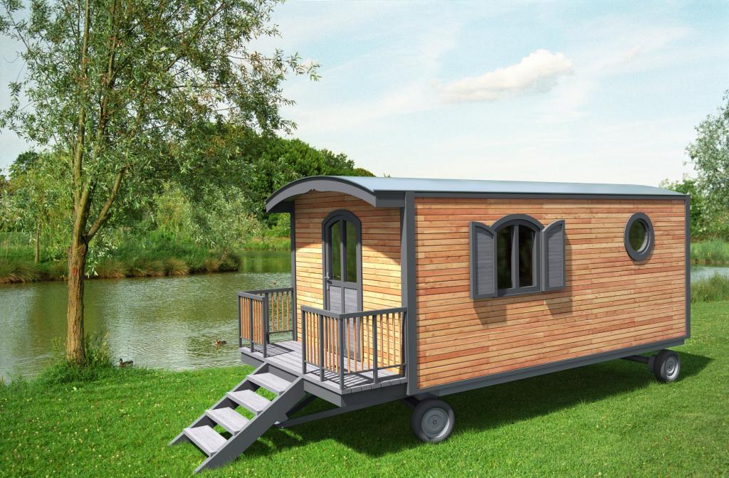 roulottes en kit sans permis de construire roulotte bois aquitaine l. Black Bedroom Furniture Sets. Home Design Ideas