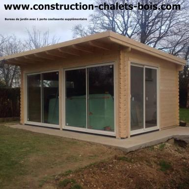 maison de jardin avec ossature bois 20m porte coulissante 20 m 10267 ttc livre monte cle en main