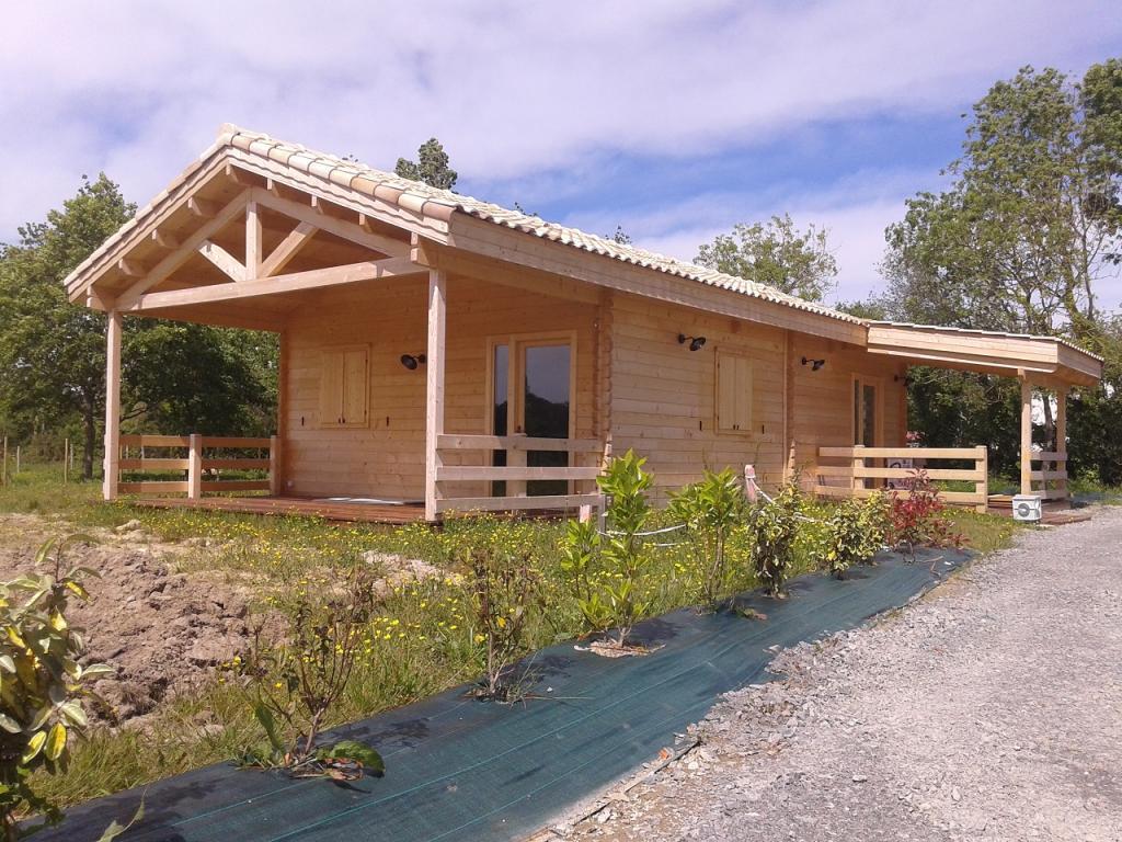 Chalet Habitable de 80m en bois en kit