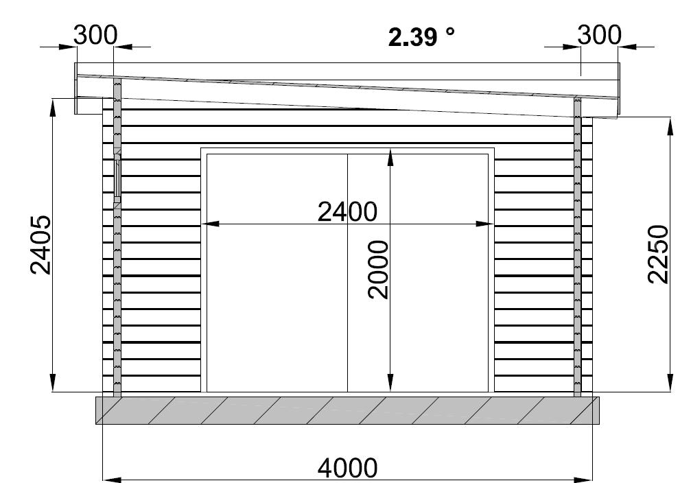 Plan De Cote Garage En Bois Toit Plat M