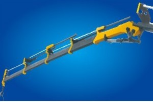 16 Ton Knuckle Boom Truck Mounted Crane , Heavy Things Lifting Knuckle Boom Crane