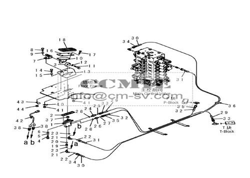 Genuine Casting Material Pilot Valve Komatsu Spare Parts