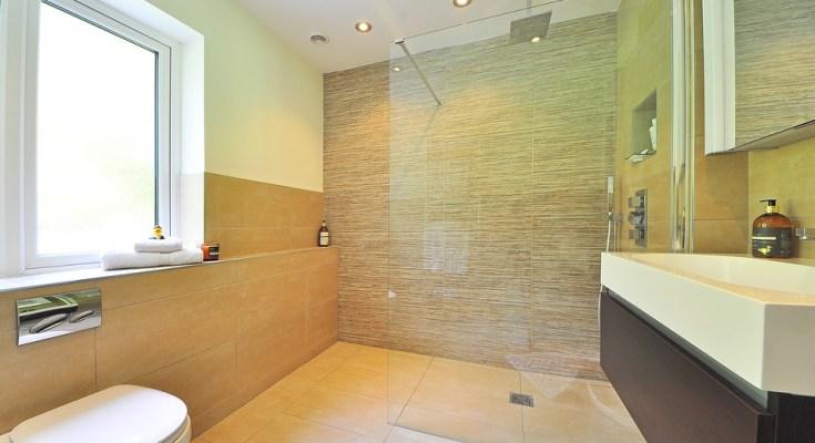 salle d'eau avec une douche à l'italienne