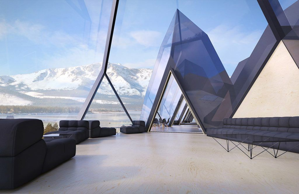 Futuristic hotel features space and energyefficient pods