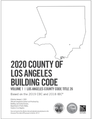 2020 County of Los Angeles Building Code (2 Volumes