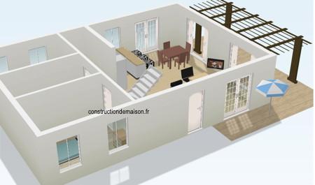 Plan Maison Moderne D Plan Maison Moderne Americaine With