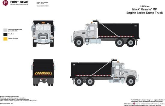 Buffalo Road Imports. Mack Granite dump truck black/silver