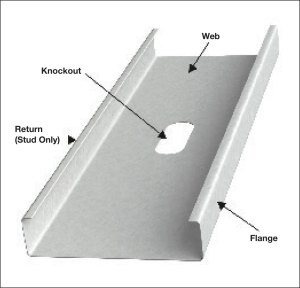 Specifying nonstructural steel studs for interior walls