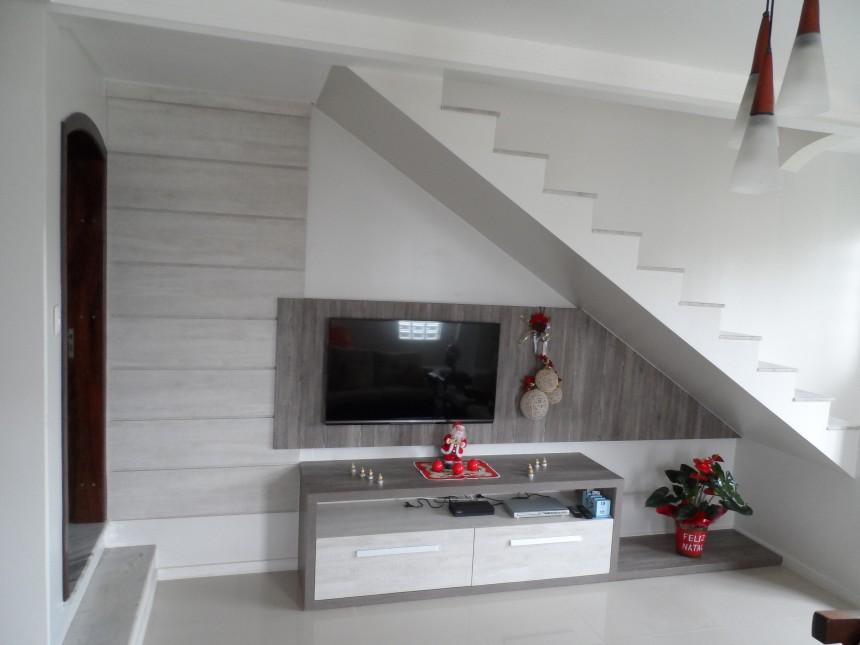 Sala Planejada com Escada  Projeto e Construo