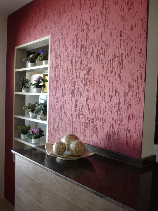 Textura em Cozinha  Paredes e Tintas  construdeiacom