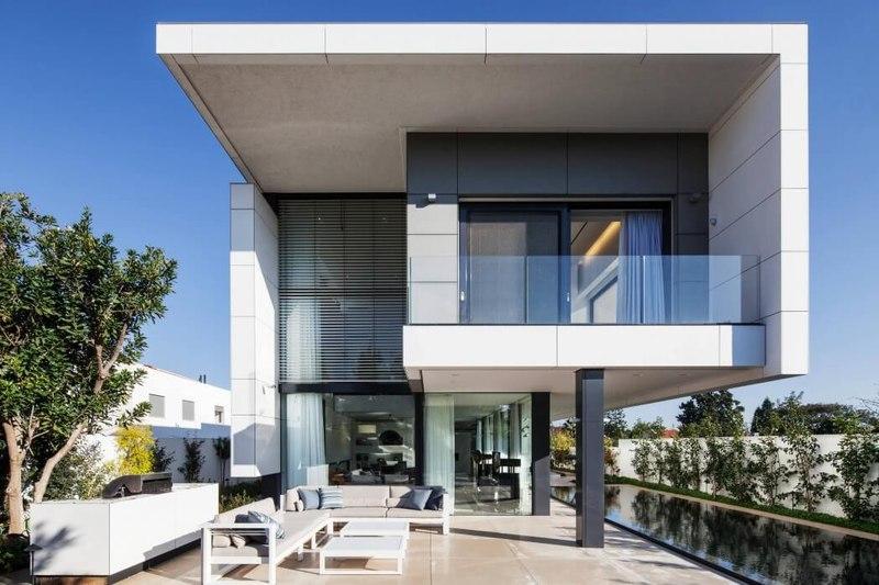 Maison contemporaine bton par Ron Aviv  Tel Aviv Isral  Construire Tendance