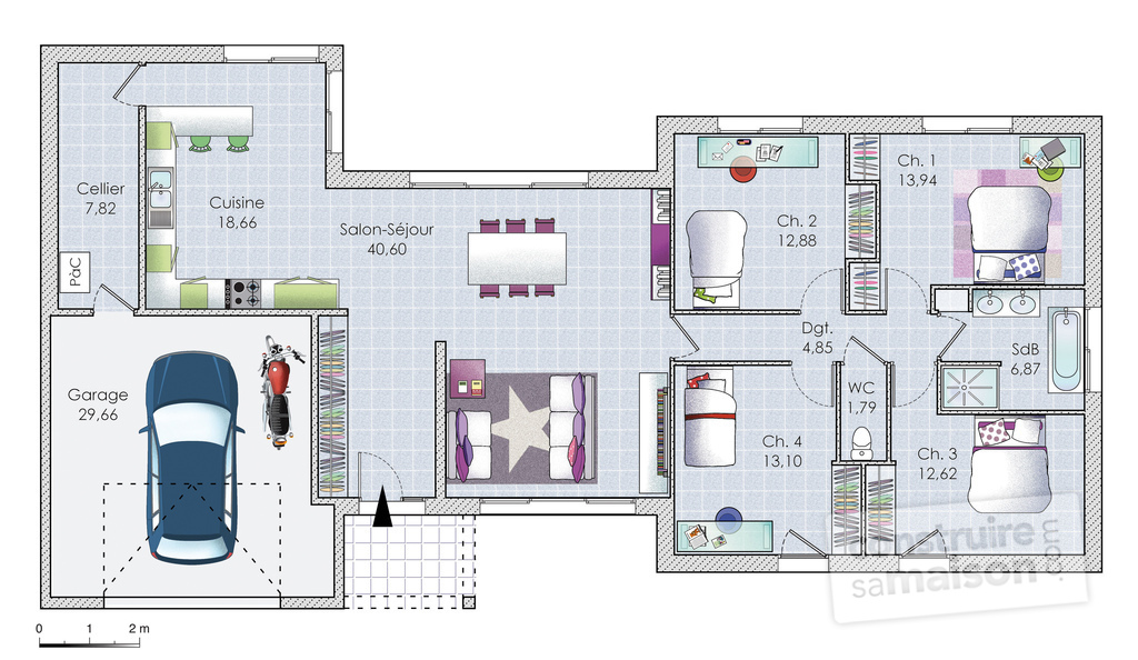 Plan Maison 6 Chambres Plain Pied. Excellent La Maison Positive With