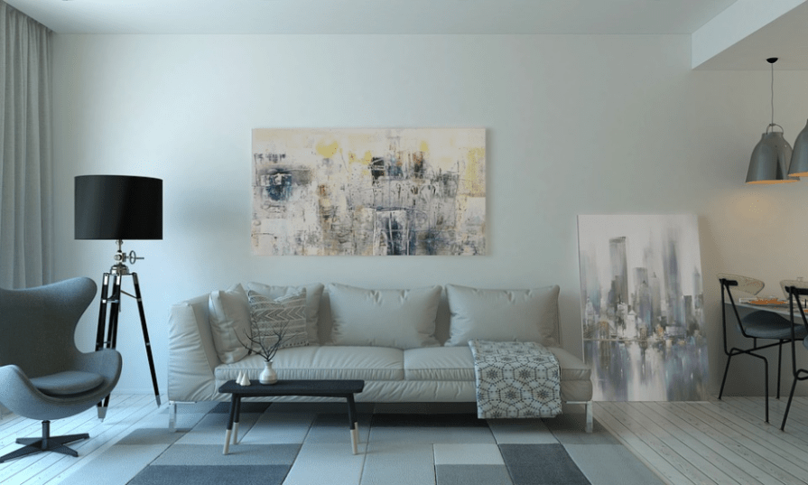 cement wall for a living room