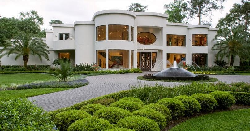 Fachadas de casas de lujo diseo lneas y estilos Fotos