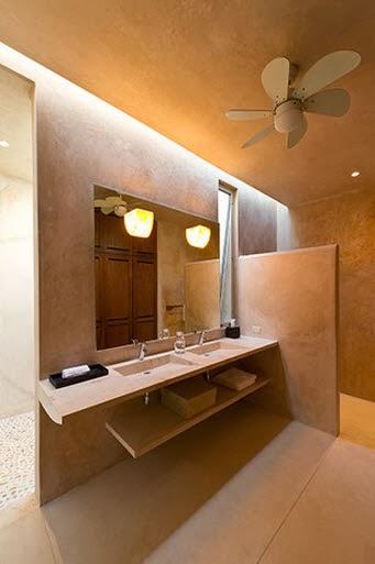 Diseo de moderna casa hacienda con paredes hormign