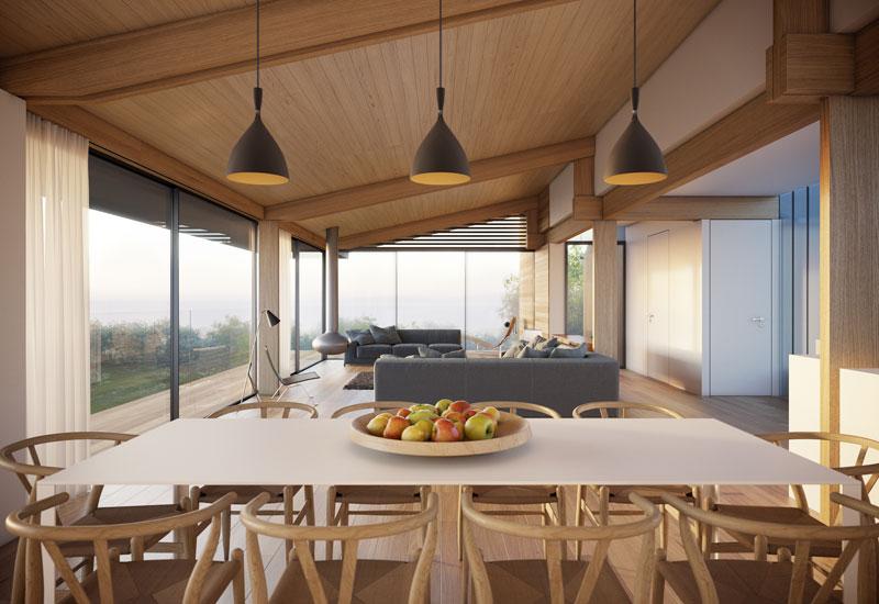 Diseo de casa moderna de 2 pisos y diseo de interiores
