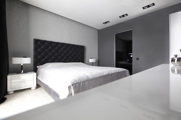 Diseo de moderno apartamento en color blanco y negro