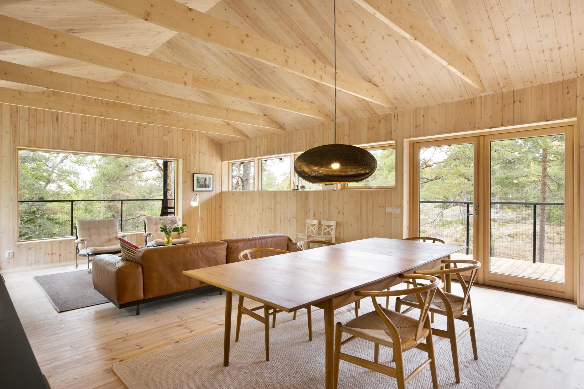 Diseo de casa pequea de madera Fachada planos interior