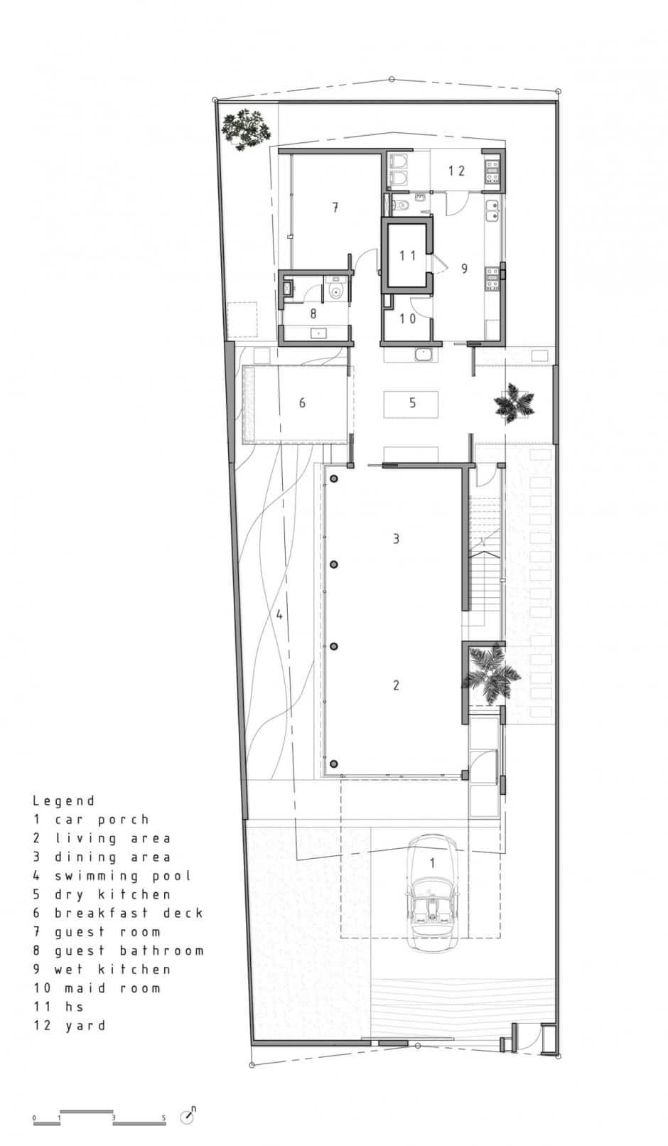 Plano de casa de dos pisos pequeña [fachada e interiores]