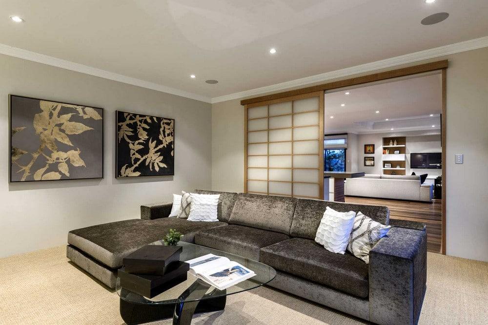 Diseo de casa de un piso estilo oriental con planos