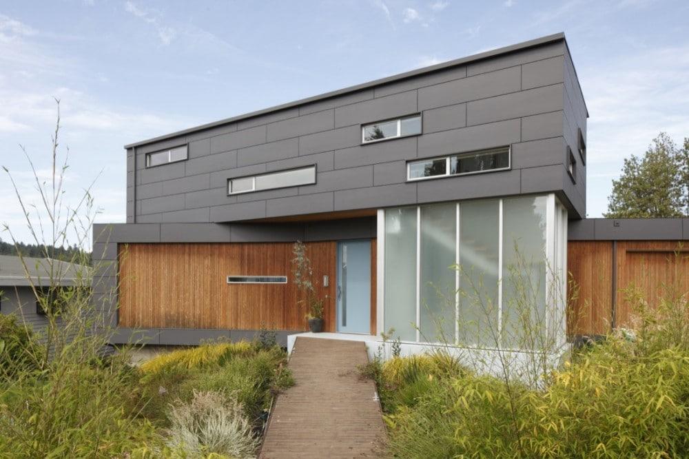 Planos de casa de dos pisos moderna fachadas