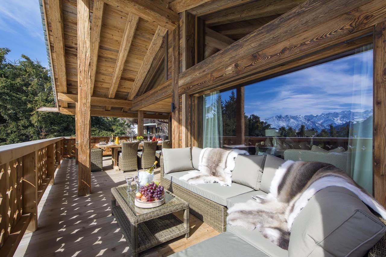 Decoracin rstica de casa de campo madera