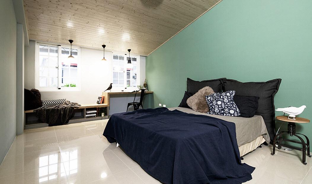 Planos de casa angosta y larga de tres dormitorios