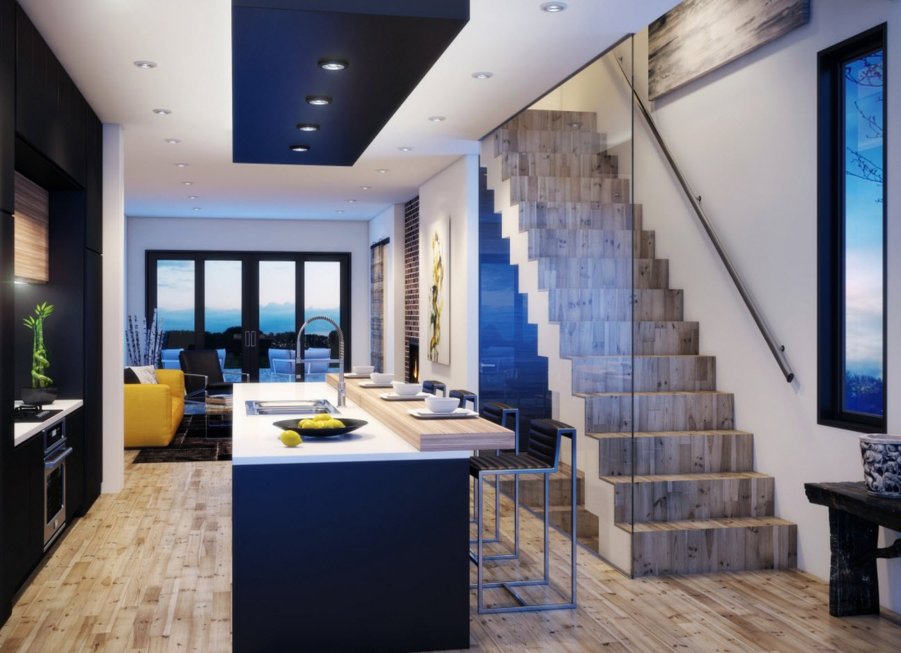 Planos casa dos pisos angosta y larga Diseo