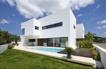 All White Modern House Exterior