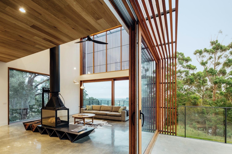 Diseo moderna casa campo dos pisos