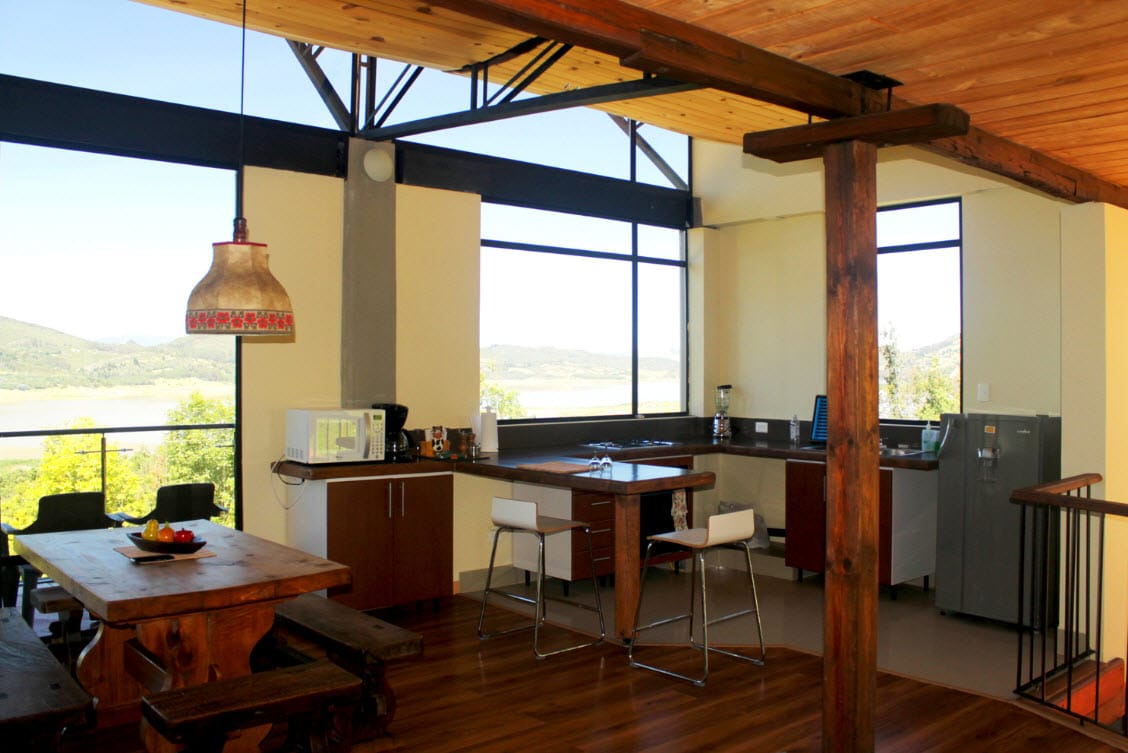 Casa de campo moderna de dos pisos Planos