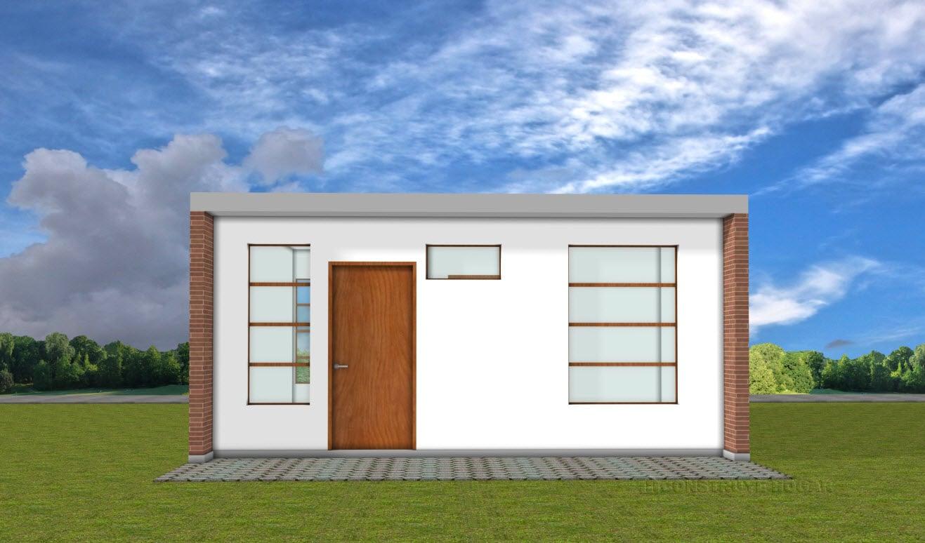 Planos de casa pequea de 42 metros cuadrados