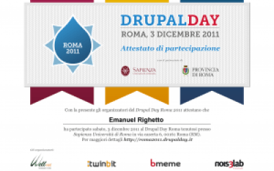 drupal day 2011 le slides dei talk