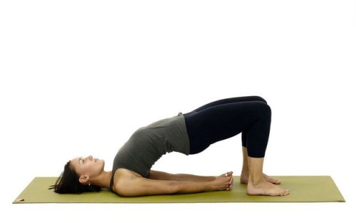 Yoga female bridge pose