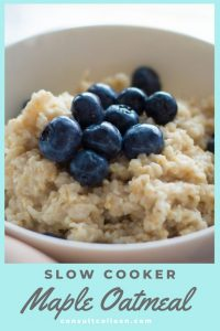 Slow Cooker Maple Oatmeal Healthy Breakfast Quick Breakfast