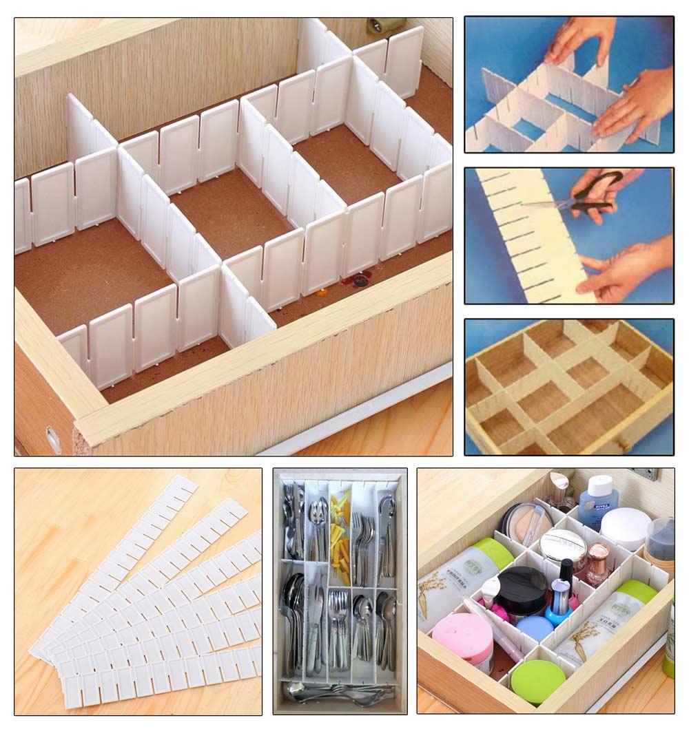 Verstellbarer Schubladen TrennerSchubladenteilerOrganizerSchrankAufbewahrung  eBay