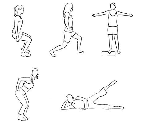 ejercicios muslos deporte