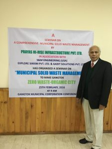 Municipal solid waste management conference @Gangtok, Sikkim