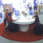 Kids in An Apple Store