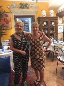 Barbara Nevins Taylor and Rita at B&B Kimera, Piazza Armerina, Sicily