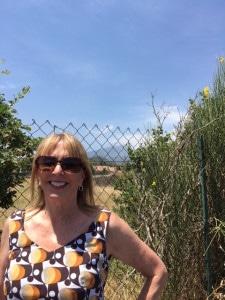 Barbara Nevins Taylor near Mt. Etna