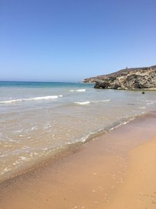 Beach at Realmonte, Sicily