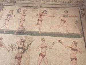 Closer Crowning Women Atheltes, Villa Romana del Casale, Sicily