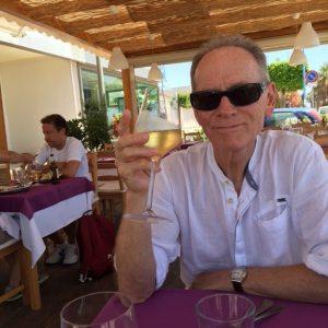 Nick Taylor at Trattoria Portobello, San Leone, Sicily
