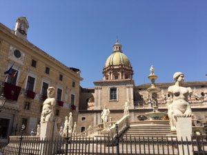 Fountain Piazza Pretoria Palermo Sicily