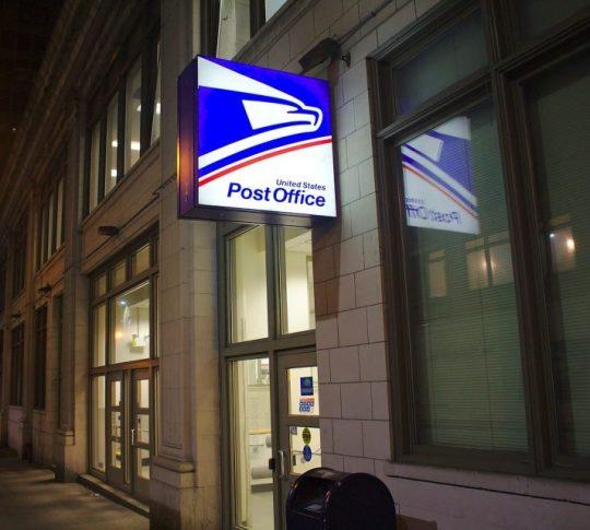 Post Office address change fee