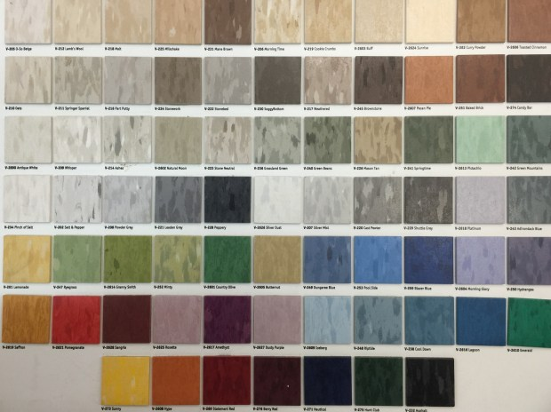 Armstrong Vinyl Tile Color Chart